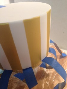 Gently peel back the tape to reveal perfect stripes