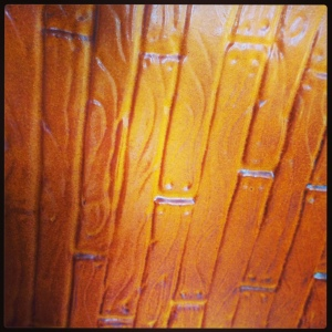 Fondant embossed with a wood grain affect & sprayed